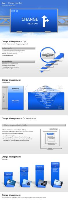 This presentation is a collection of PowerPoint diagrams and - change management plan template