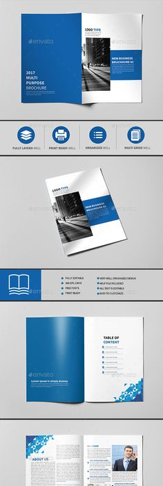 Annual Report Brochure Template Indesign Indd  Brochure Templates