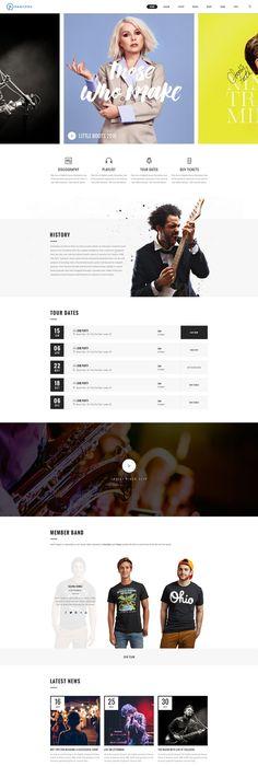 Music Portal Responsive Website Template | Portal, Template and Website