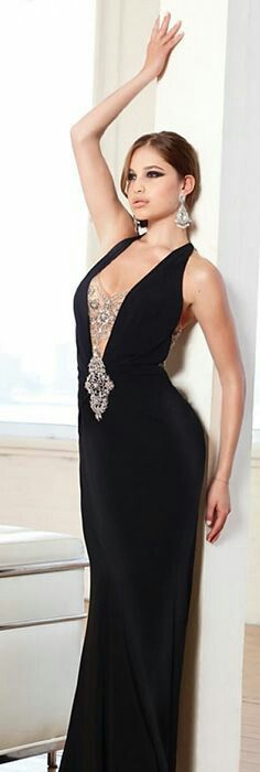 Terani Couture High-Necked Vintage-Look Punk Rocker Prom Dresses ...