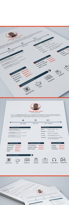 Resume Template, Stationery templates and Fonts