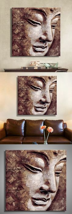 Oil paintings canvas buddha wall art decoration artwork home decor on canvas modern wall pictures for living room1pcs