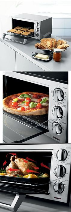 pizza oven s cooker toaster p convection black countertop rotisserie stove ebay large decker cookware silver