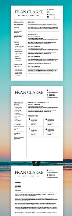 Simple And Clean Resume Cv Template  Resume    Cv