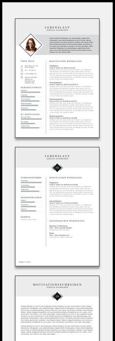 lebenslauf vorlage mit zwei seiten und anschreiben maximilian pinterest business layouts and template - Lebenslauf Zwei Seiten