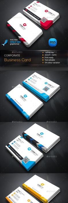 Modern Business Card Template Psd  Business Card Templates