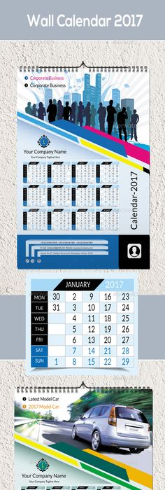 Wall Calendar  Template Walls And Calendar Design