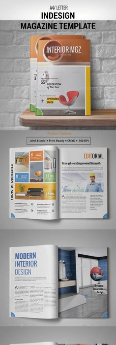 Rounded Landscape Magazine | Creative design, Brochures and Template