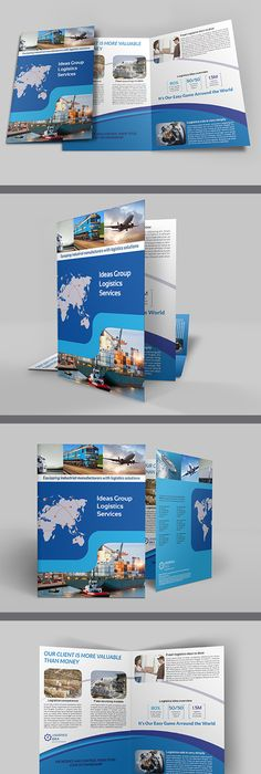 Green Energy Company Brochure BiFold Template  Energy Companies