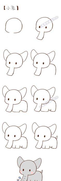 Comment dessiner un rat facilement dessin pinterest - Comment dessiner un elephant facilement ...