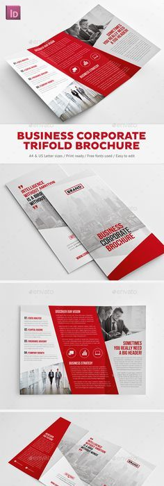 Brochure design could do this for the coffee table about the business corporate trifold brochure corporate brochures httpgraphicriveritem solutioingenieria Images