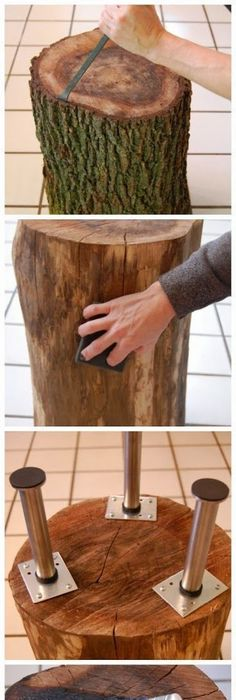 Coffee Tables Made From Tree Trunks