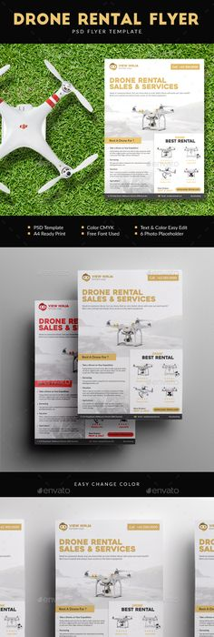 Flyer  Add Templates - 5 Color Variants Template, Flyer printing