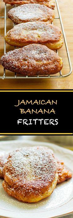 super easy jamaican banana fritters are light fluffy and soooooo tasty it is a