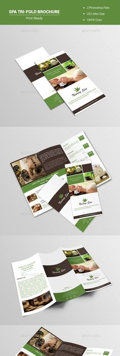 Modern Landscaping Tri Fold Brochure Triangle Photos  Creativity