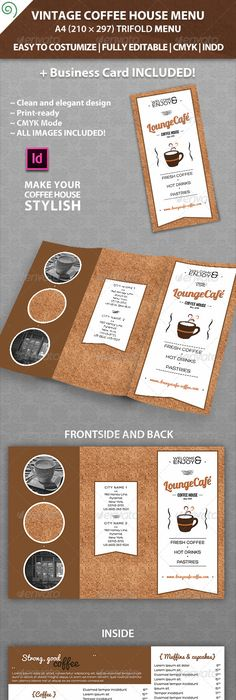 Coffee Tri Fold Brochure Template  Brochures Tri Fold Brochure