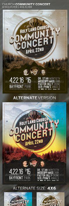 GospelConcertPosterDesign  Gospel Concert Church Flyer