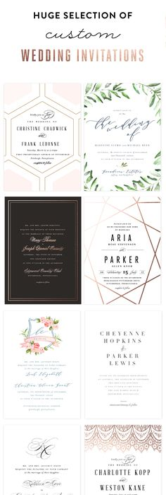 Modern Geometric Wedding Invitation