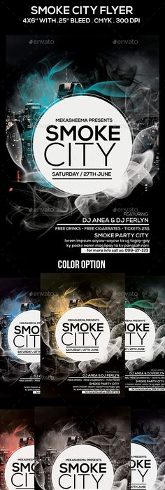 Smoke City Flyer. Brochure Design InspirationFlyer ...