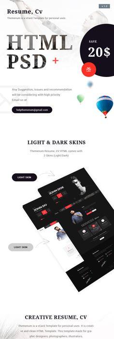 Flat vCard Template Vcard Pinterest