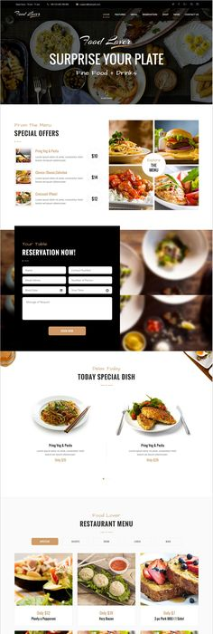food lover is a modern and creative design responsive wordpress theme for restaurant