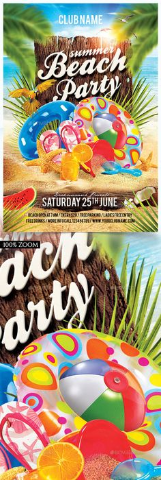 Beach Party Flyer Template Httpffflyerbeach Party
