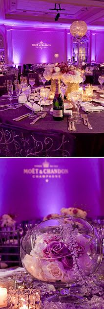 Purple & Champagne Colour Scheme   Royalty, Purple gold and Table ...