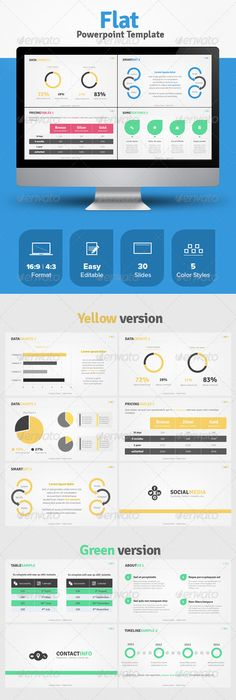 Montuca powerpoint presentation template by eamejia on deviantart flat powerpoint template toneelgroepblik Image collections