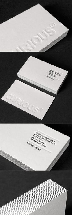 3d embossed business cards pushing the limits of print deeply embossed white letterpress business card design reheart Gallery
