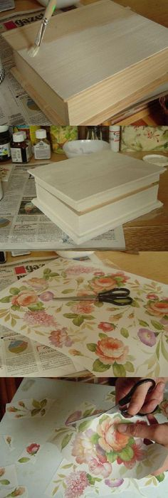 Decoupage And A Little Paint
