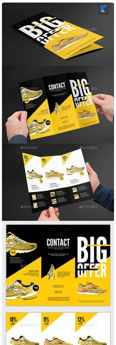 Product Trifold Brochure Indesign templates, Brochures and Adobe