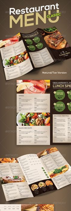 Food Catering Brochure Design Template By Stocklayouts  Roberto