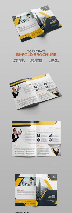 Corporate BiFold Brochure Brochures Photoshop And Brochure Template - Brochure template photoshop