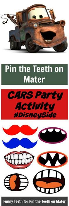 Disney Pixar Cars Birthday Party activities and games party ideas