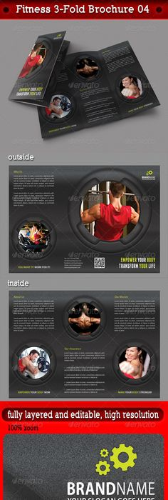 My Gym Fitness Club Brochure  Gym Fitness Brochures And Gym