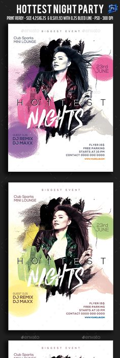 Summer Party Flyer Templates PSD Bundle Download here