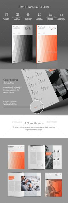 Hexagon Annual Report Template | Annual reports, Indesign templates ...