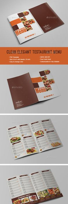 Restaurant Flyer Template Vol  Flyer Template Template And