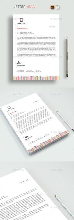 Corporate Letterhead Branding Identity Pinterest Letterhead design