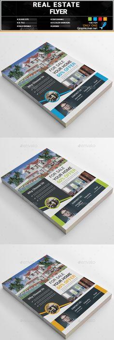 Real Estate Flyer Template Vector EPS, AI Illustrator   Flyer ...