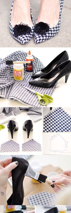 The best DIY projects & DIY ideas and tutorials: sewing, paper craft, DIY.  Diy Crafts Ideas DIY: Designer Shoes Project -Read More -