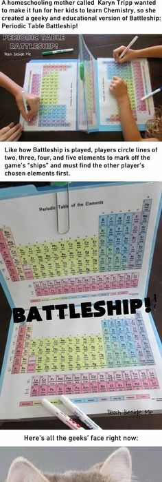 Periodic table battleship a scientific twist on the classic game to how to love chemistry more with this periodic table battleship urtaz Image collections