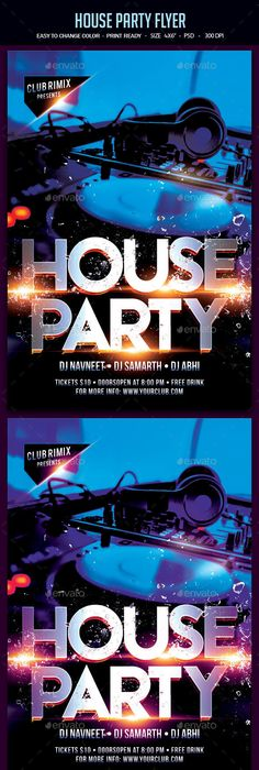 Gold Party Psd Flyer Template Gold party, Psd flyer templates