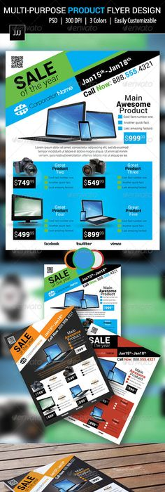 Cyber Monday Sale Flyer Templates  Sale Flyer Flyer Template And