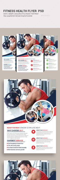 Fitness Flyer  Flyer Template Template And Brochures