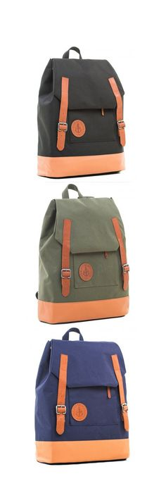 Vintage backpack with inserts of genuine leather. Features of a backpack: *  DWR (