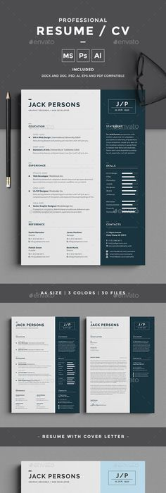Editorial Resume Design  Nadia  Editorial Foxes And Cv Template