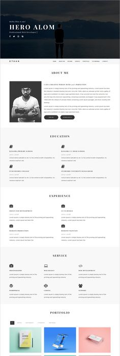Larsia Gold  Onepage Personal  Resume Template  Template