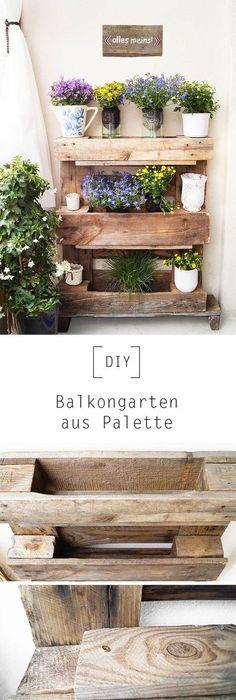 blumenk sten aus paletten garten pinterest garten and gardens. Black Bedroom Furniture Sets. Home Design Ideas