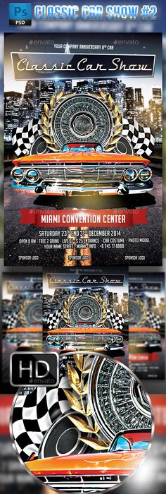 Auto Show Flyer Template Flyer Template Psd Templates And Template